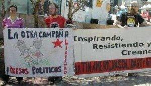 La Otra Chiapas pidiendo excarcelar a los presos politicos