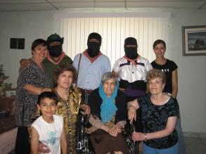 Mamá Corral, Comité de Madres y delegados del EZLN