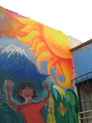 Defendiendo la tierra. Foto de mural colectivo en Xalapa, Ver. Foto: Zapateando